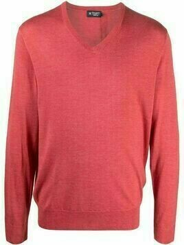 Hackett fine-knit V-neck jumper - Red