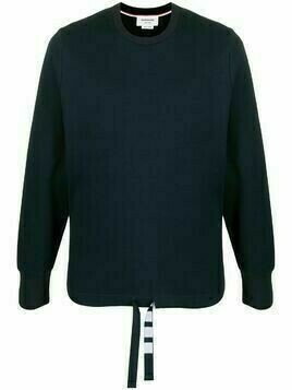 Thom Browne fine-knit long-sleeve sweatshirt - Blue
