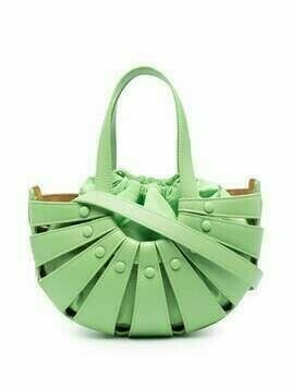 Bottega Veneta The Shell cutout bag - Green