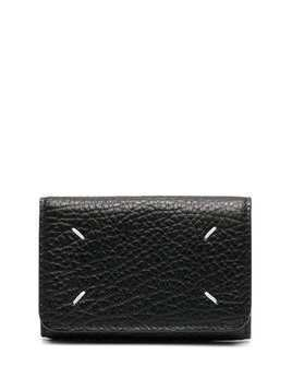 Maison Margiela foldover leather wallet - Black