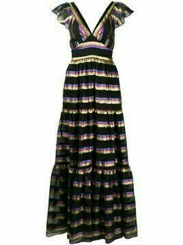 Temperley London Melina tiered maxi dress - Black