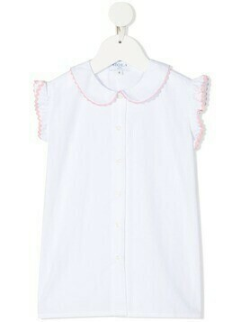 Siola contrasting-trim sleeveless blouse - White