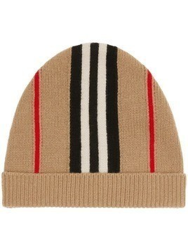Burberry Kids Icon Stripe beanie hat - Neutrals