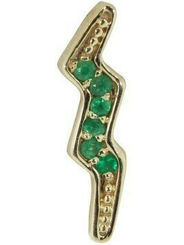 Andrea Fohrman 14kt yellow gold lightning bolt emerald earring