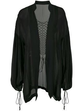 Dion Lee coil detail blouse - Black