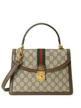 Gucci small Ophidia Web top-handle bag - Brown
