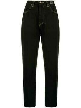 Versace Pre-Owned 1980s high-waisted cropped jeans - Black