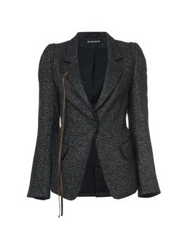 Ann Demeulemeester string detail jacket - Black