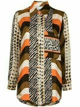 Pierre-Louis Mascia multi-print shirt - Multicolour