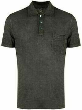 Majestic Filatures linen-blend polo shirt - Green