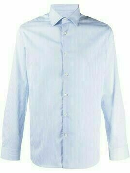 Corneliani thin-stripe cotton shirt - Blue