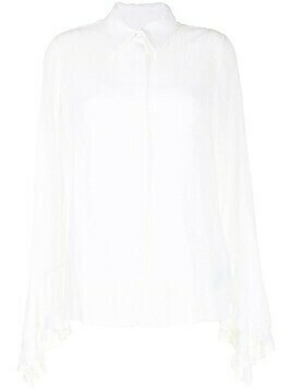 Erdem ruffle-trim cotton shirt - White