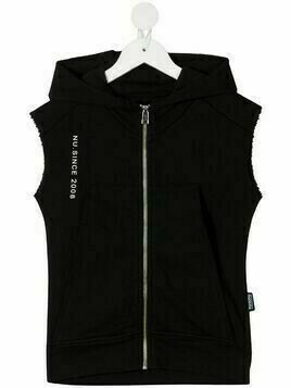 Nununu sleeveless cotton gilet - Black