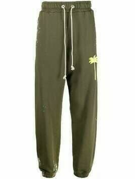 Palm Angels painted palm tree track pants - Green
