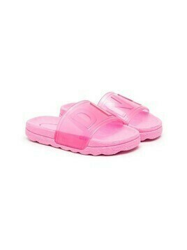 Dkny Kids logo-print jelly slides - Pink