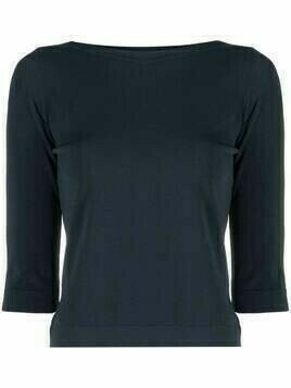Roberto Collina three-quarter sleeve jumper - Blue