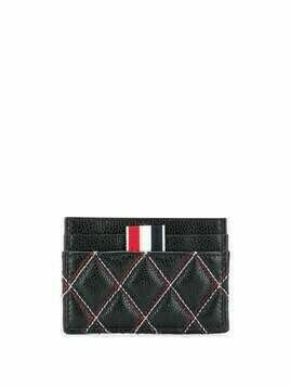 Thom Browne quilted-effect cardholder - Black