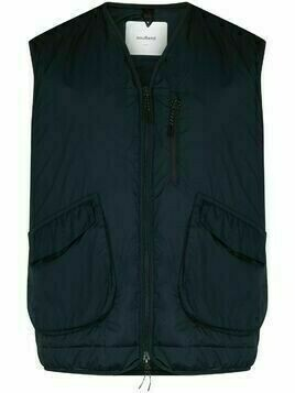 Soulland V-neck sleeveless gilet - Blue