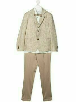 Colorichiari check-print three-piece suit - Neutrals