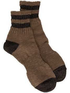 Kolor stripe fitted socks - Brown