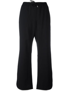 Ermanno Scervino drawstring straight track pants - Black