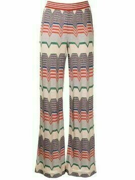 Missoni Pre-Owned metallic threading flared trousers - Multicolour