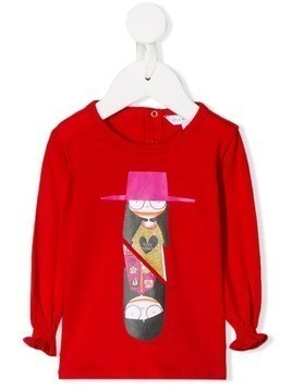 Little Marc Jacobs Miss Marc print top - Red