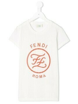 Fendi Kids logo printed T-shirt - White