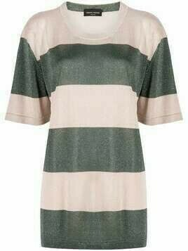 Roberto Collina metallic-threaded knit striped top - Neutrals