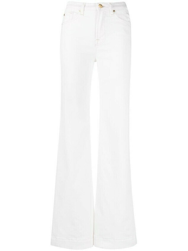 7 For All Mankind Modern Dojo Cloud flared jeans - White