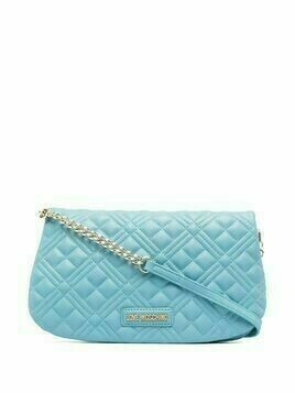 Love Moschino quilted shoulder bag - Blue