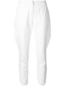 Giorgio Armani Pre-Owned baggy detail cropped trousers - White