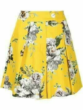 Erdem floral-print shorts - Yellow