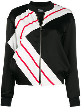 Karl Lagerfeld K-Stripe bomber jacket - Black