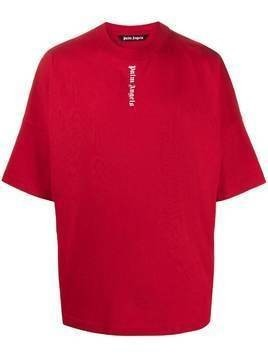 Palm Angels logo print T-shirt - Red