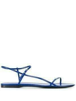 The Row Flach flat strappy sandals - Blue