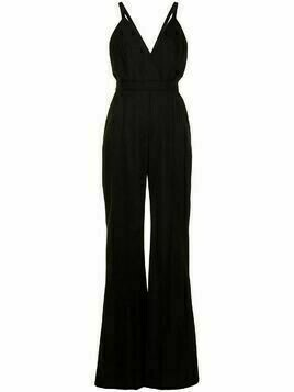 Elie Saab V-neck flared jumpsuit - Black