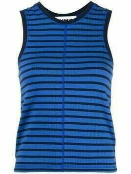 YMC Dot striped tank top - Blue