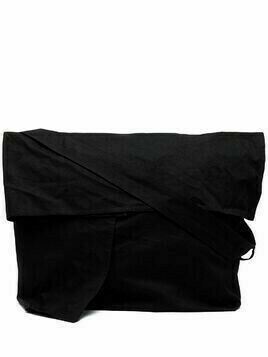 Y's large crossbody bag - Black