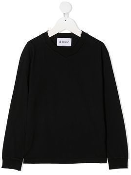 Dondup Kids embroidered logo sweatshirt - Black