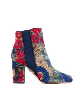 Aquazzura 'Kaia' embroidered boots - Multicolour