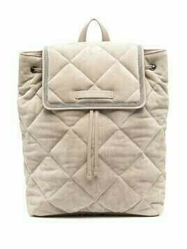 Brunello Cucinelli Monili chain-embellished quilted backpack - Neutrals