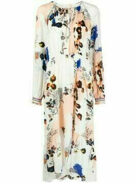 Lala Berlin floral-print midi dress - White