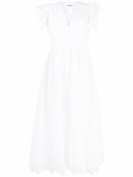 Vivetta floral lace midi dress - White