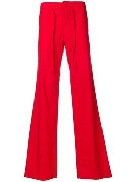 Romeo Gigli Pre-Owned loose fit drawstring trousers - Red