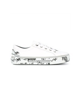Lanvin printed sole sneakers - White