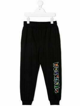 Moschino Kids embroidered-logo track pants - Black