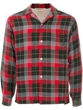 Fake Alpha Vintage 1960's checked shirt - Red