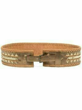 Mes Demoiselles metallic-effect waist belt