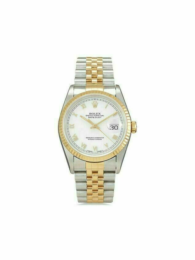 Rolex 1991 pre-owned Datejust 36mm - White